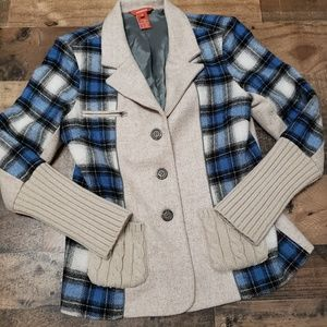 4 Wool Blend Plaid Sundance Blazer
